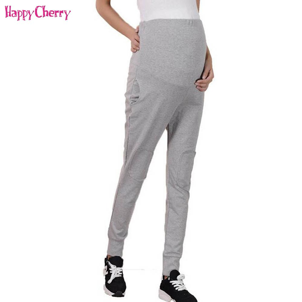 c9ab0154c0f10b 2019 Maternity Leggings Pregnant Pants 100% Cotton Adjustable Elastic Waist  Maternity Leisure Trousers For Spring Pregnancy Clothes From Henryk, ...