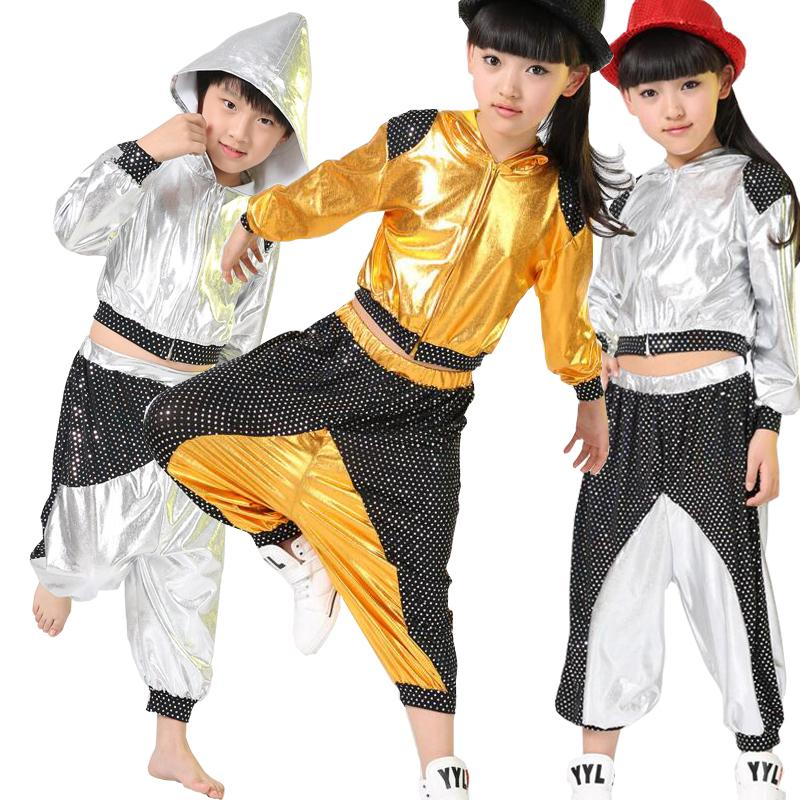 98dd6b58a 2019 New Boys Girls Long Sleeve Bright Sequined Hooded Outfits Kids ...