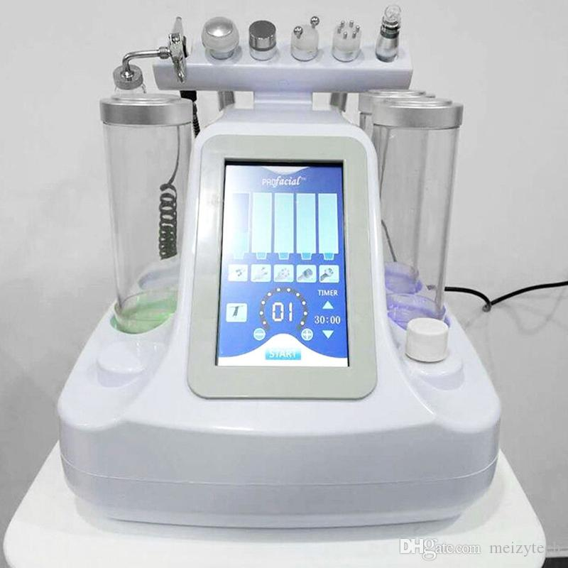 6in1 Vide Visage De Nettoyage Hydro Dermabrasion Eau Oxygène BIO RF Jet Peel Machine Pore Cleaner Soins Du Visage Soins de La Peau beauté