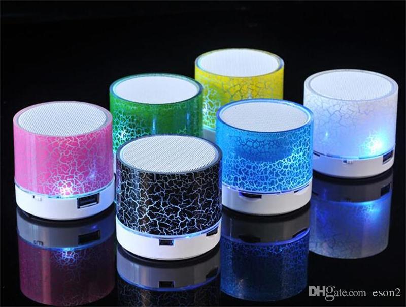 Bluetooth Speakers LED de alto-falante mãos A9 S10 sem fio portátil Mini alto-falante livre TF USB Suporte FM PC cartão SD com Mic