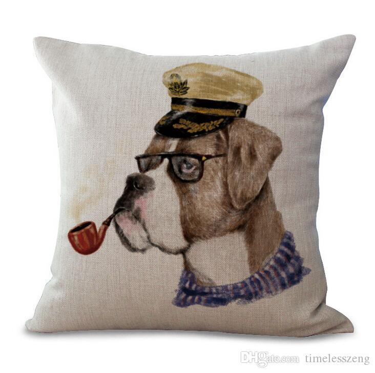 1 pezzo di stile europeo animale creativo stampa federa cuscino 45 * 45 cm copertura del cuscino 20 stile divano in cotone e lino federa libera la nave