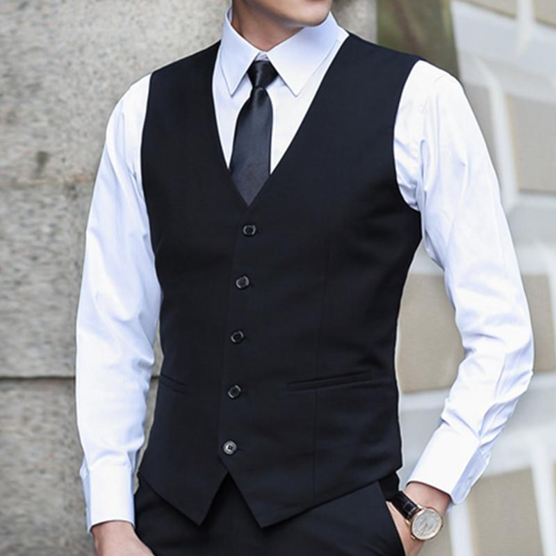 b8f8a6357693 2019 Slim Suits Vests Mens Waistcoats Fitted Colete Sleeveless Jacket  Formal Dressed Wedding Blazer Vest Brand Clothing From Easme, $88.73 |  DHgate.Com