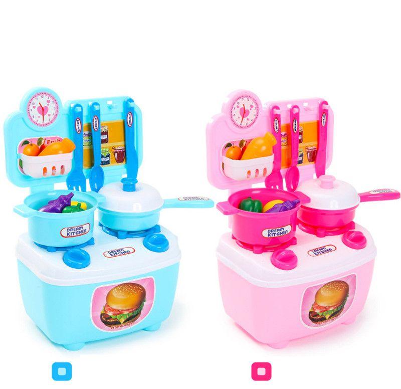 fe70fda2a19a5 Kid Kitchen Set Toy for Pretend Kitchen Children Educational Toys ...