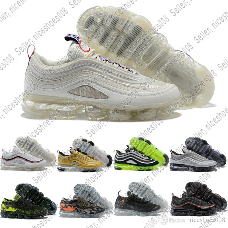 brand new 8b4f5 5b8ee Nike Air Max Vapormax 2018 New 97 Country Camo Japón Italia Reino Unido  Army Green Running Shoes Hombres 97s Camouflage Ultra Bullet 3M Premium  Zoom ...