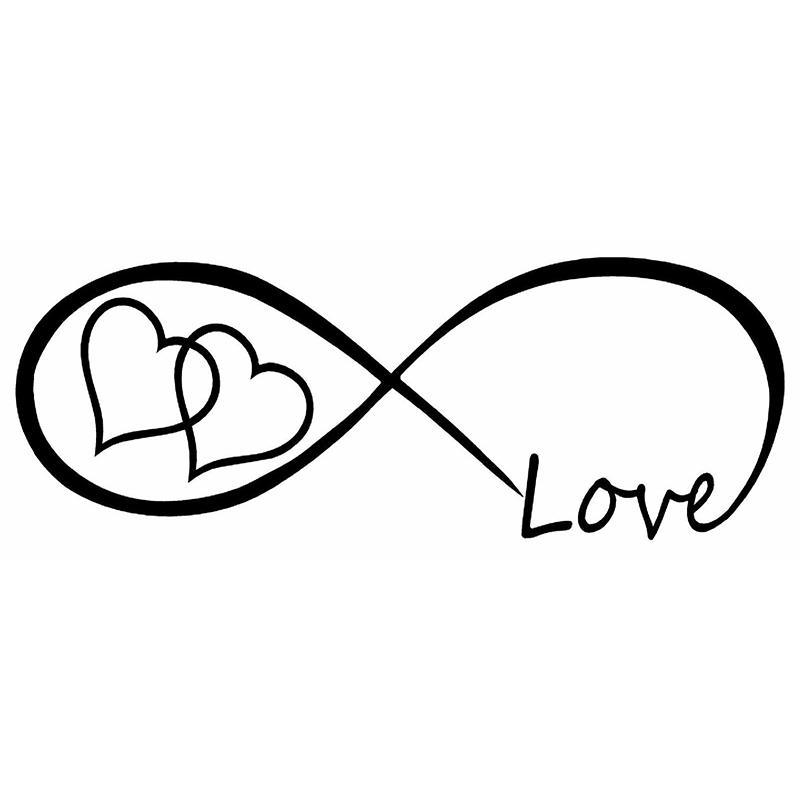 1866cm Love Heart Forever Symbol Vinyl Decal Car Window Bumper