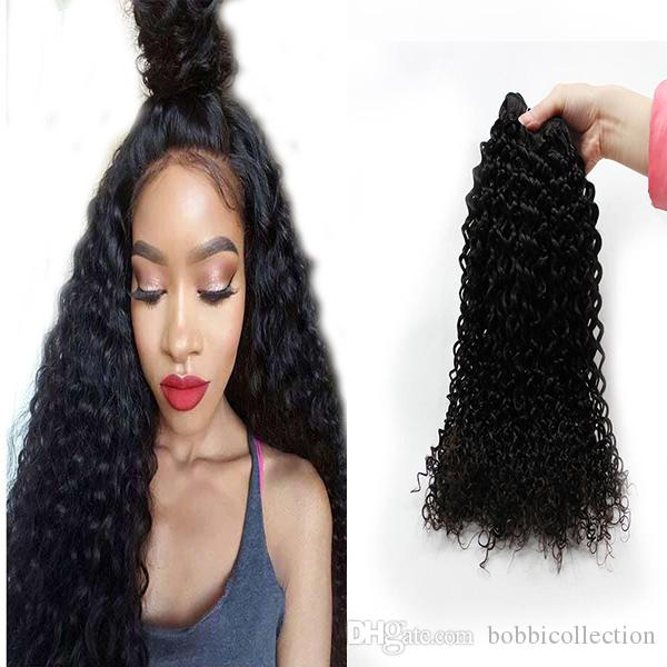 Indian Hair Bundles Natural Color Can Be Dyed Curly Weave Hair