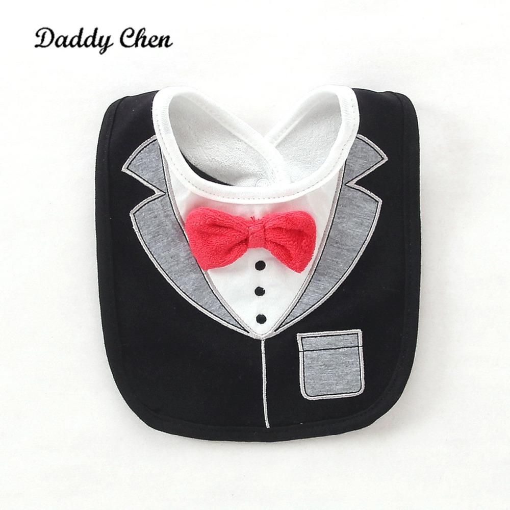 652db9d4a 2019 Baby Boy Tuxedo Bibs 3 Layers Waterproof Newborn Dinner Feeding Bib  Child Red Bow Tie Gentleman Baberos Infant Saliva Towel From Moongate, ...