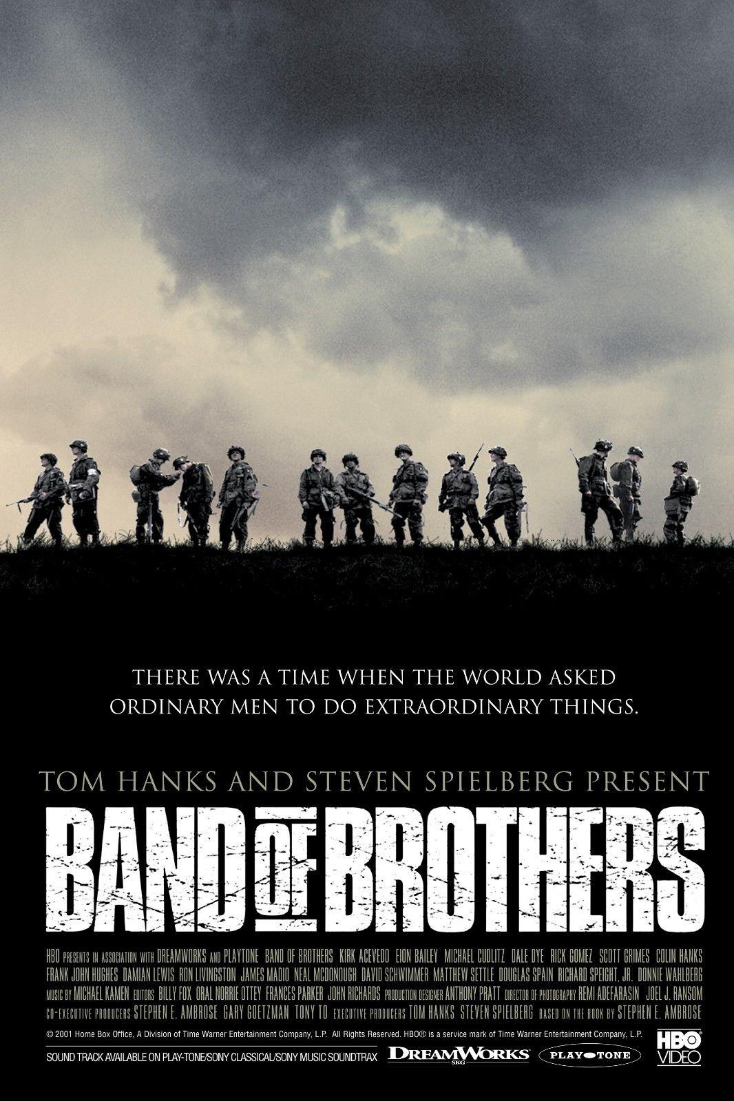 Band of brothers 2001 movie decor art silk poster 24x36inch 24x43inch