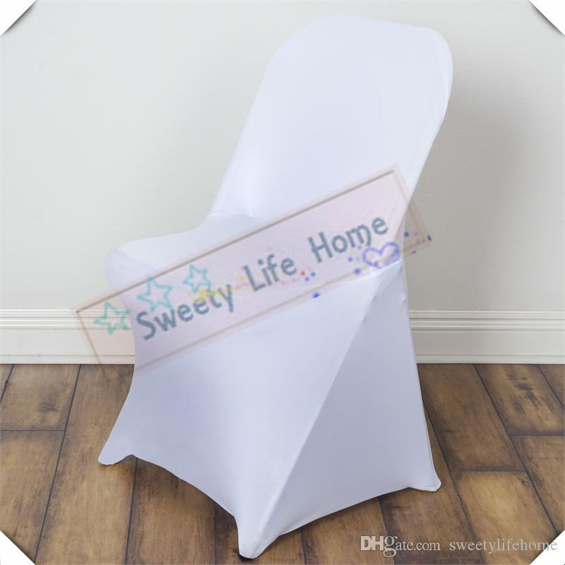 Amazing White Folding Spandex Covers Free Shipping Fold Chair Covers Strech Banquet Chair Seats For Outdoor Chairs Party Camellatalisay Diy Chair Ideas Camellatalisaycom