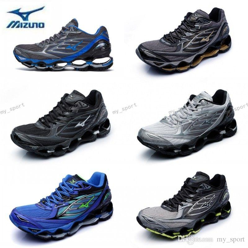 hot sale online aff70 197b0 2018 New Arrival MIZUNO WAVE PROPHECY 6 Men Designer Sports Running Shoes  Sneakers Mizunos 6s Casual Mens Trainers Size 40-45 US 7-11
