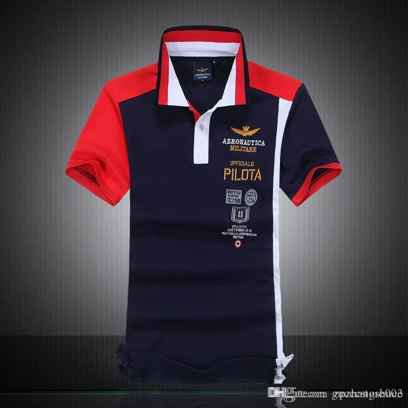 bc05693d60de 2019 2017 Summer Brand New Mens P2 T Shirts High Quality 100% Cotton AERONAUTICA  Militare Polo Shirts Air Force One Italy Sports Shirts Tops From ...