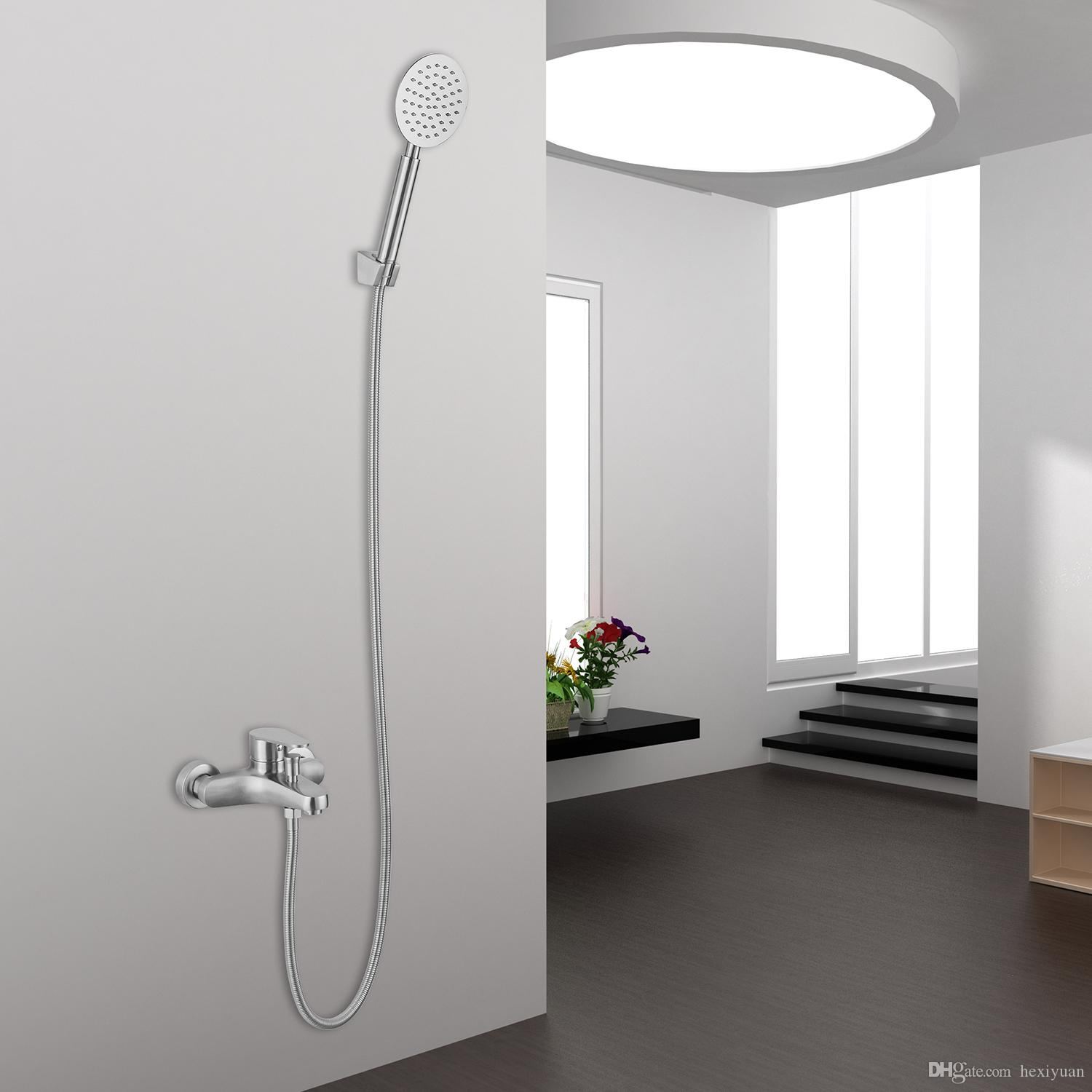 2018 304 Stainless Steel Bathtub Shower Faucet Shower Head Hot And ...