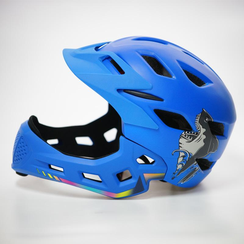 2019 Kids Full Face Band Tail Light Bicycle Helmet Cycling Cair Motocross  Downhill MTB Helmet DH Downhill Safety Fullface From Wencull 3b5d4176e
