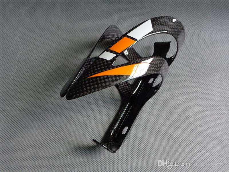1004 hot sale new design carbon fiber bicycle water bottle cage orange white color painted NEASTY brand bike accessories