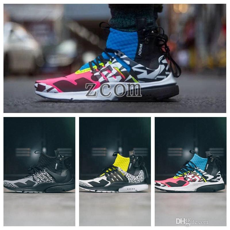 a28091bf74ade 2018 Air Zapatillas Acronym X Presto Mid Running Shoes Racer Pink Triple  Withe Black Prestos Women Mens Trainer Fly Authentic Sports WithBox Running  Shoes ...