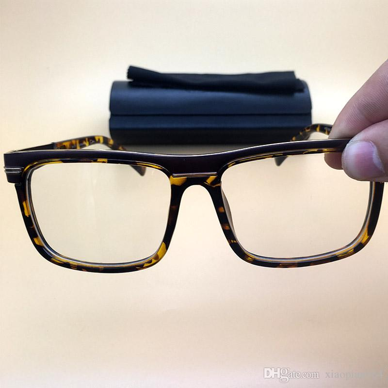ee570c1e7eb Leopard Frame Clear Lenses Optical Frame Sunglasses Luxury Men ...