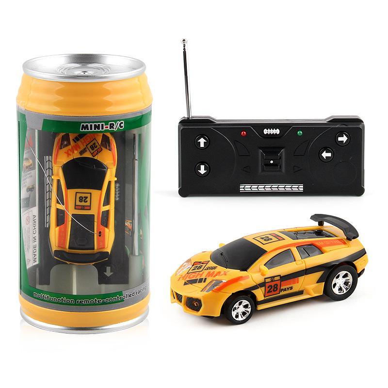 DHL free Mini-Racer Remote Control Car Coke Can Mini RC Radio Remote Control Micro Racing 1:45 car for Kids