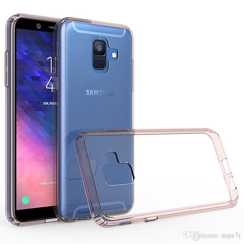 For Samsung A6 Transparent Clear Bumper Case Ultra Thin Pc Tpu Back Cover Case Samsung A7 A5 A3 A8 J7 J5 Plus Case
