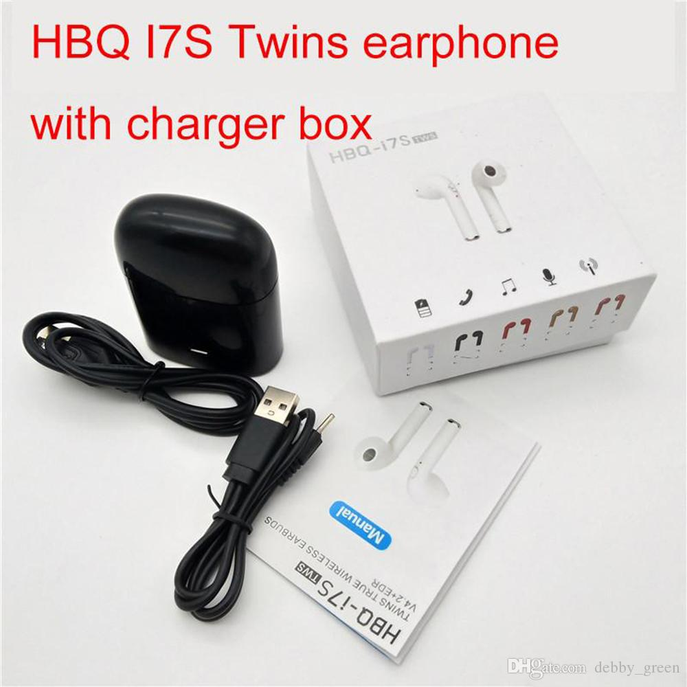 eaf29215dd4 HBQ I7S TWS Headphone Twins Earphone Stereo For Apple IPhone I7 Android  Samsung Apple 4.1 Bluetooth Wireless Headset With Mic Charging Box Headset  Wireless ...