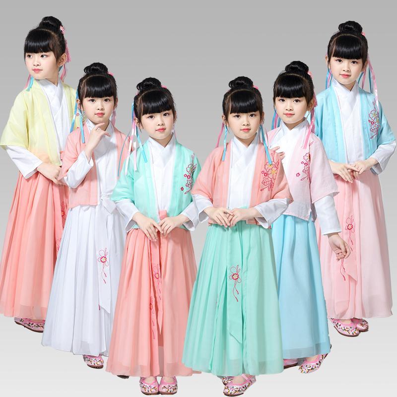 756639ce82e Acheter Filles Chinois Traditionnel Hanfu Robe Dynastie Tang Princesse  Guzheng Costume Pour Enfants Enfants Fée Classique Danse Costume De  78.64  Du Lvyou09 ...