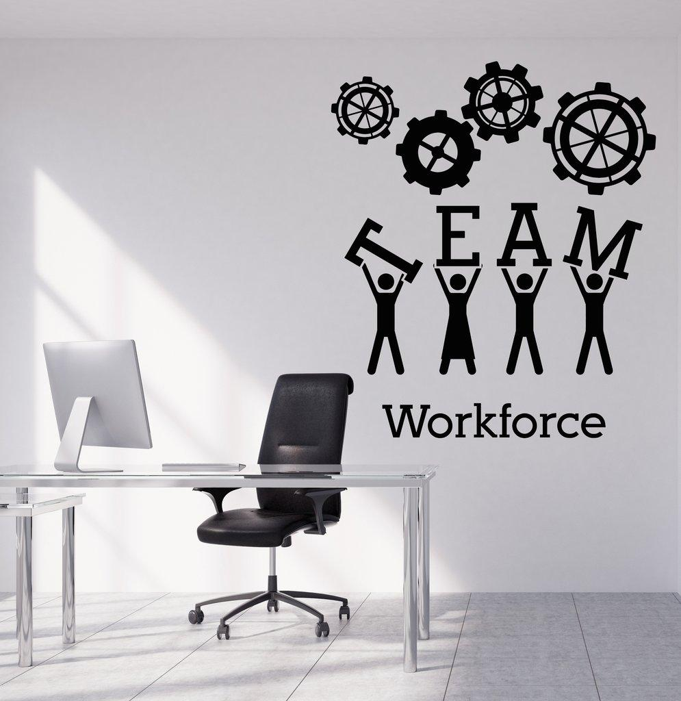 exceptional Creative Wall Art Part - 11: Team Business Work Wall Sticker Vinyl Decals Teamwork Office Interior  Decoration Creative Wall Art Decal For Office Banksy Wall Stickers Bathroom  Wall ...