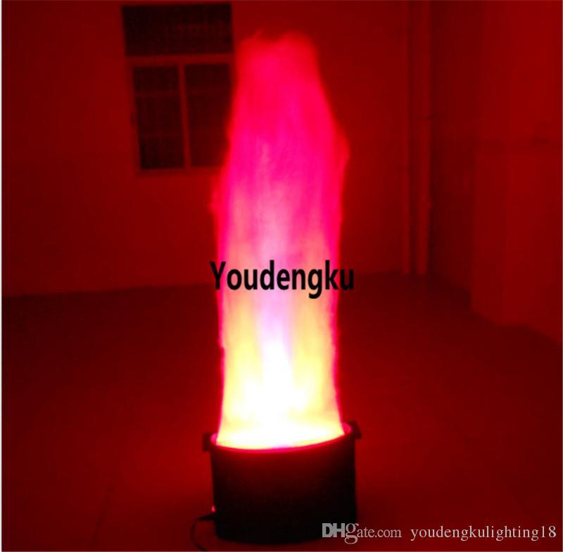 Effet de feu au sol led lumière led dmx lumière de la flamme 10mm 1,5m hauteur feu faux led lumière de la flamme de soie