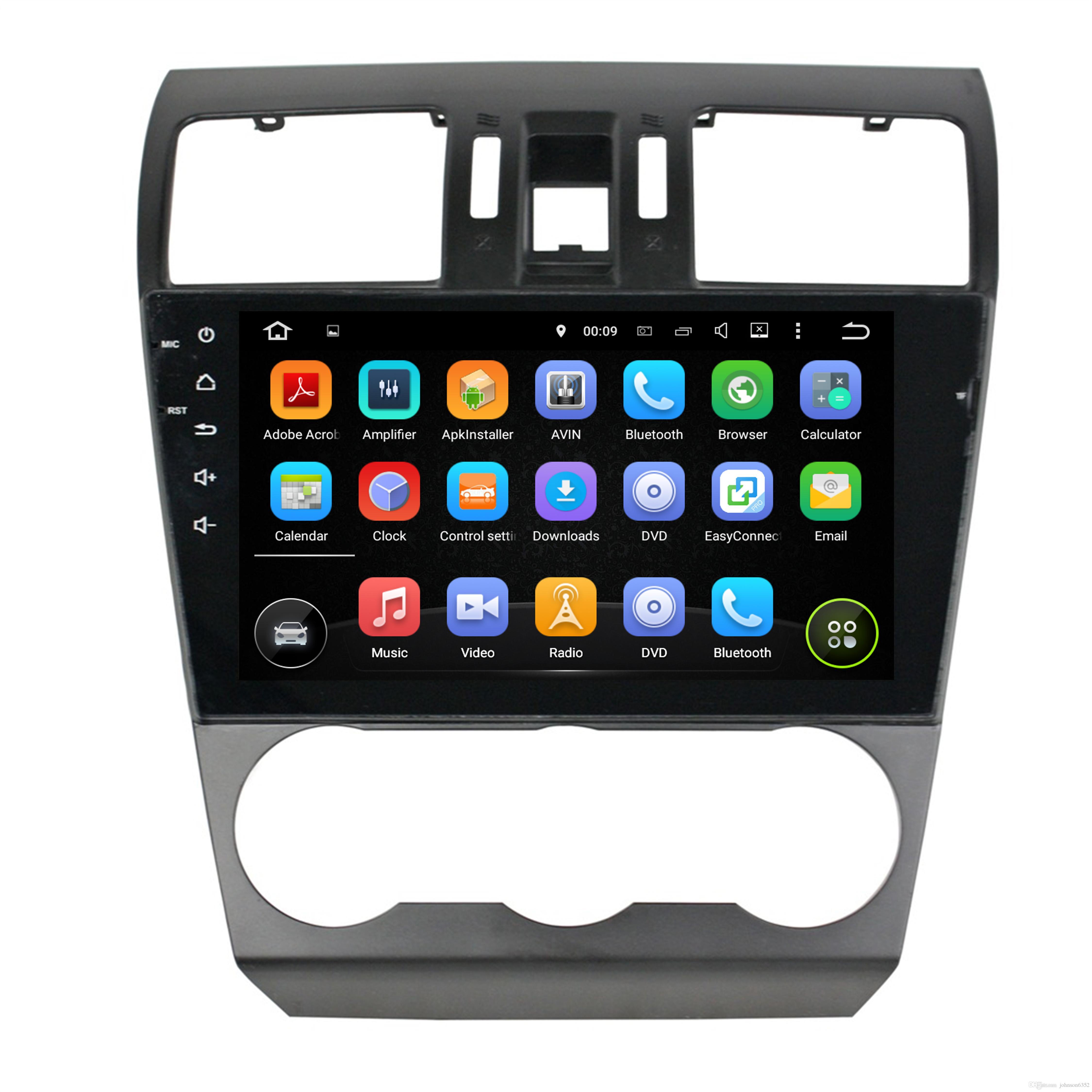 car radio android 7 1 quad core 9 car dvd audio player for subaru