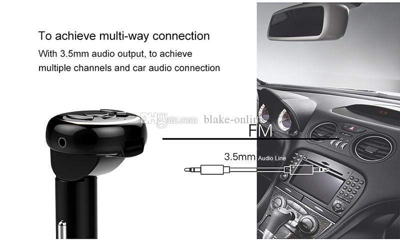 Araba Bluetooth Araç Kiti Kablosuz Handfree MP3 / MP4 Müzik Çalar FM Verici Modülatör Radyo Adaptörü Bluetooth ses alıcısı Araç Şarj