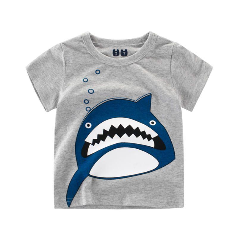 783317cf92e59d 2019 Kids Boys Girls Casual T Shirt Breathable Cotton Tee Shirt Unisex Cute  Shark Print Tops Children Short Sleeve Clothing Tee From Dengdeng66, ...