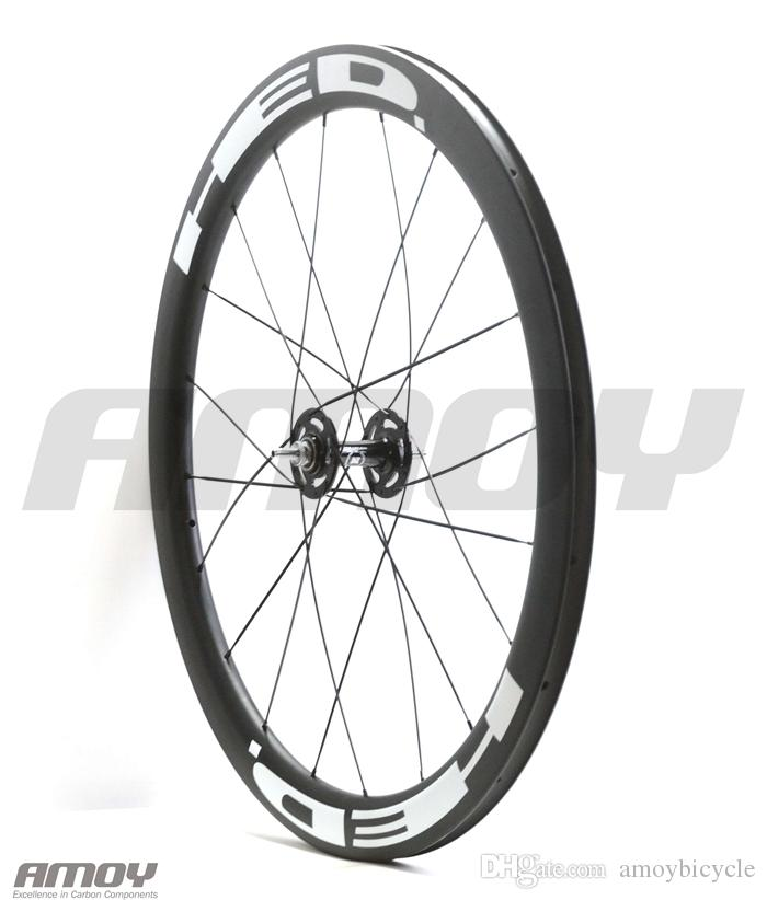 700C Carbon Track bike wheelset 50mm HED painting Clincher Tubular Flip Flop fixed gear Single Speed bike wheels