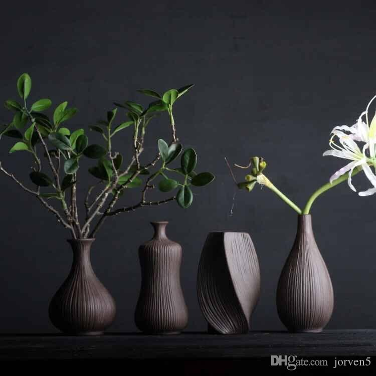 Rough Pottery Vase Chinese Geya Vase Retro Flowers Inserted Dried