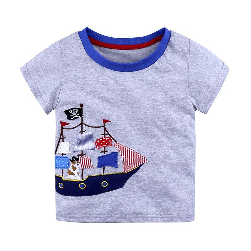 Chicos Tops Verano 2018 Marca Niños Camisetas Niños Ropa Niños Camiseta Fille 100% Algodón Estampado de caracteres Bebé Niño niñas Ropa