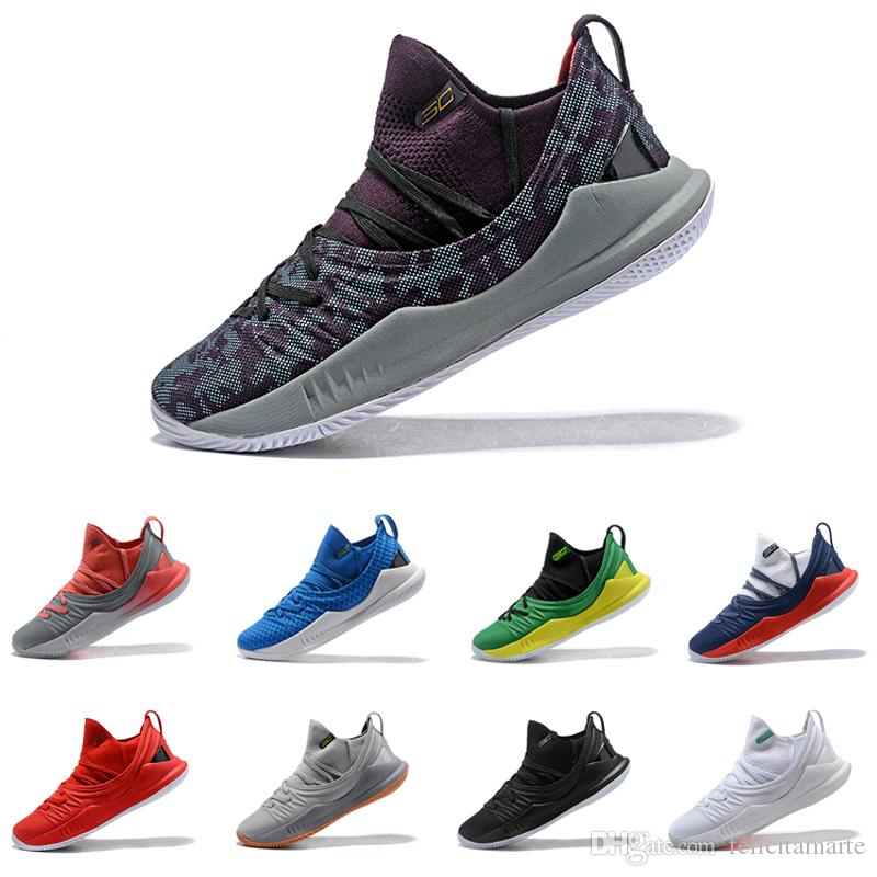 4ee5401e9724 Stephen Curry 5 Basketball Shoes Stephen Mens Curry 5 Gold Championship MVP  Pi Day Fired Up Championship Finals Sports Training Sneakers Stephen Curry 5  ...