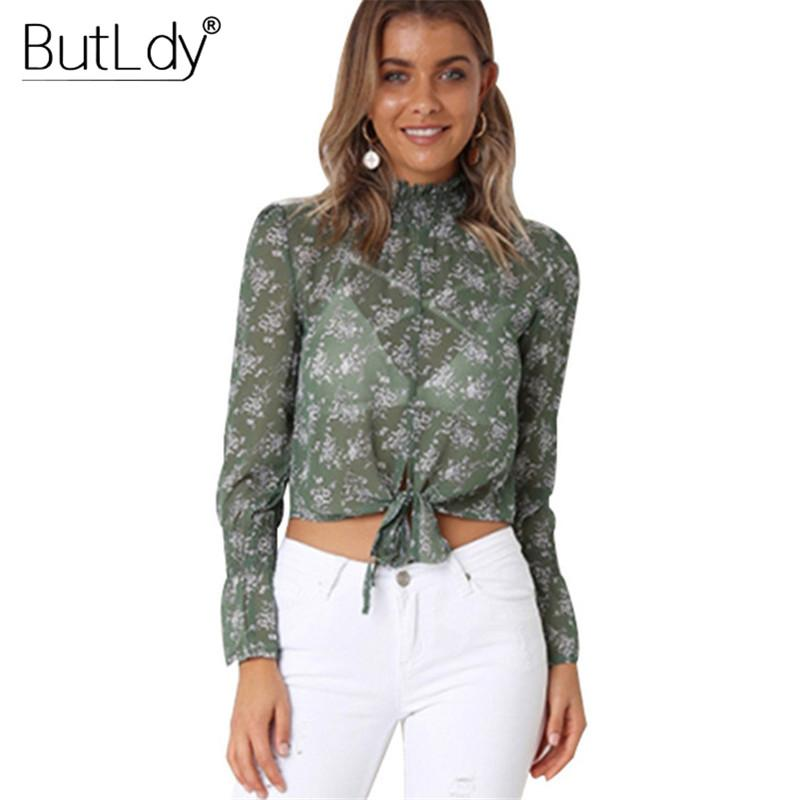 Back To Search Resultswomen's Clothing 2019 New Summer Womens Tops And Blouses Long Sleeve V-neck Chiffon Shirt Bandage Black Sexy Streetwear Vintage Ladies Tops