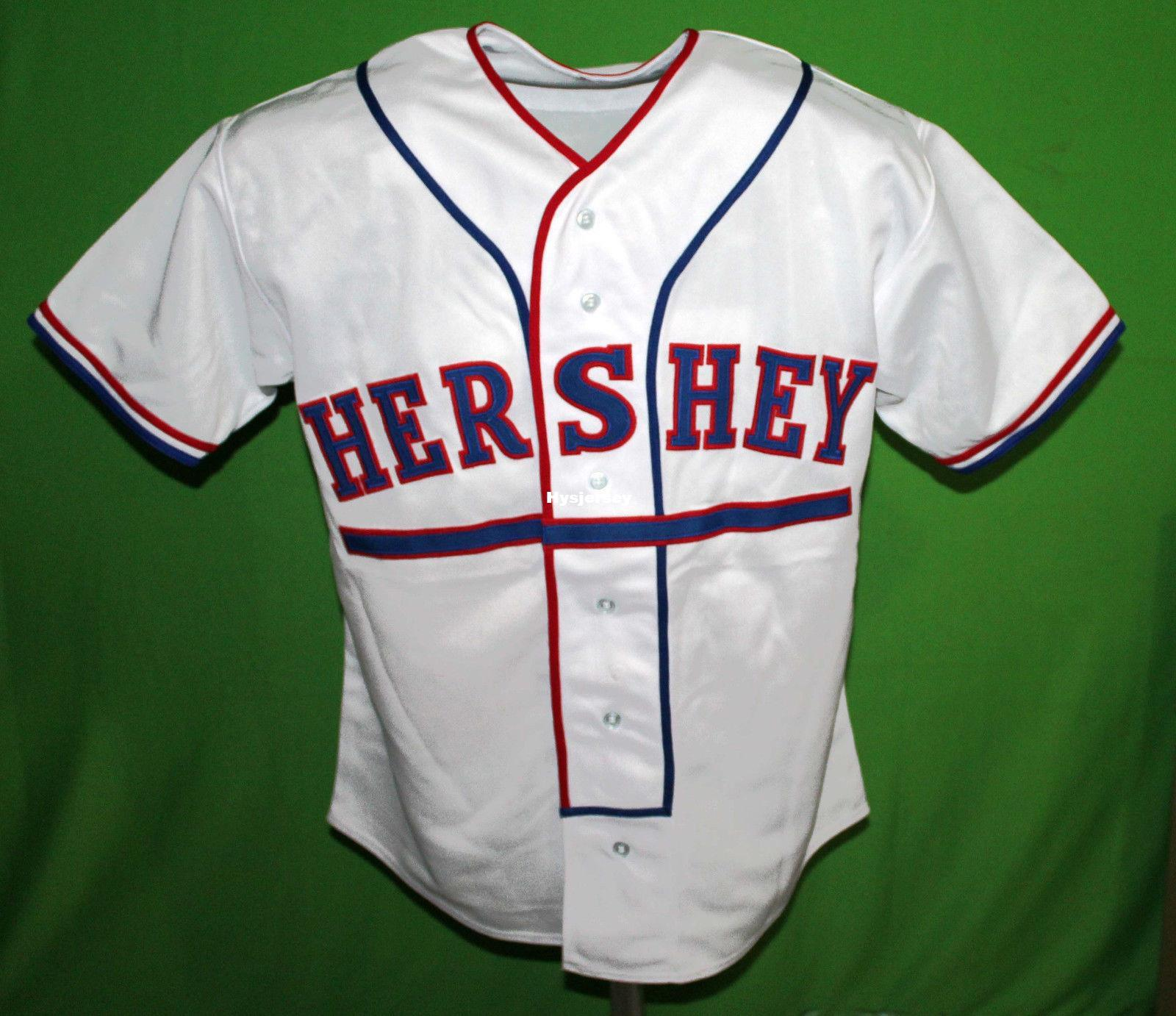 info for ffcd4 03bae Cheap Retro HERSHEY #7 1956 Home BASEBALL JERSEY Or Custom any number any  Mens Vintage jerseys XS - 5XL