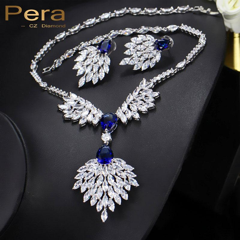 Whole Salepera Famous Brand Royal Wedding Jewelry Blue And White