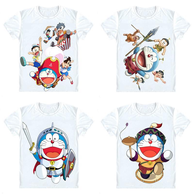 Doraemon T Shirts Short Sleeve Anime Manga Fujiko Fujio Stand By Me Nobita Nobi Shizuka Minamoto Cosplay Shirt