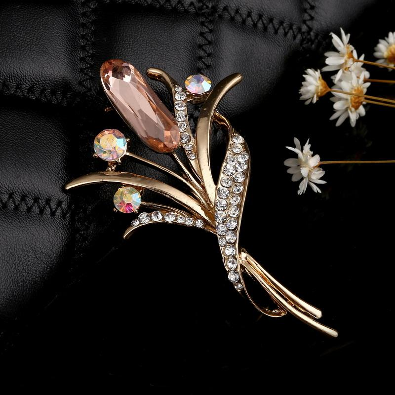 Marvelous 2018 Fashion Rhinestone Champagne Brooch Pin Women Wedding Bridal Party  Flower Crystal Bouquet Brooch Gifts From Harveyi, $24.84 | Dhgate.Com