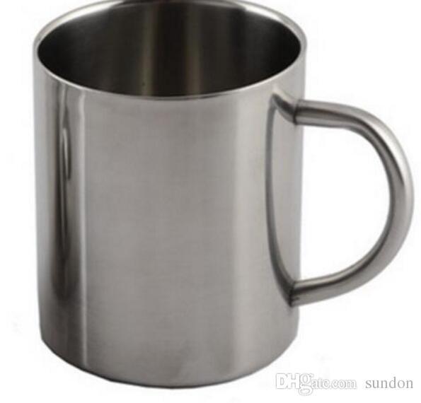 220ML Double stainless steel mugs Anti-hot Portable Mug Cup Double Wall Travel Tumbler Coffee Mug Tea Cup