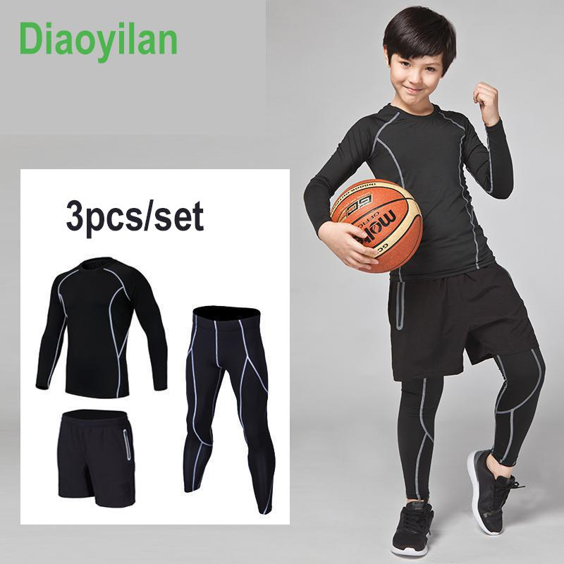 892e779c5 2019 2017 Compression Kids Sport Suits Quick Dry Running Sets Clothes Sports  Joggers Training Gym Fitness Tracksuits Running Sets From Johiny, ...