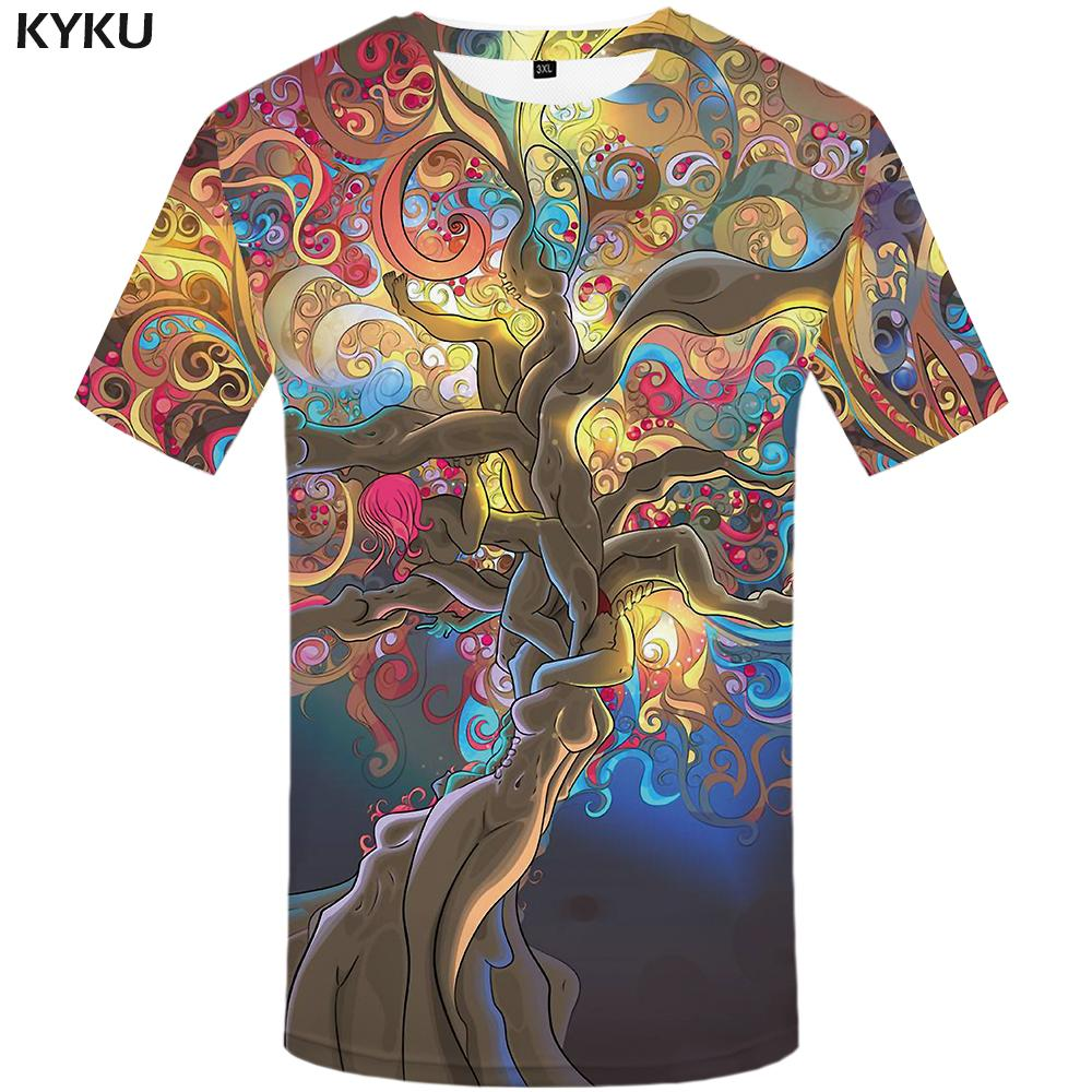 ab55c9a51 KYKU Space T Shirt Men Colorful Tshirt Tree Punk Rock Clothes Character 3d  T Shirt Cool Mens Clothing 2018 Summer Fashion Tops Quirky T Shirt Awesome T  ...