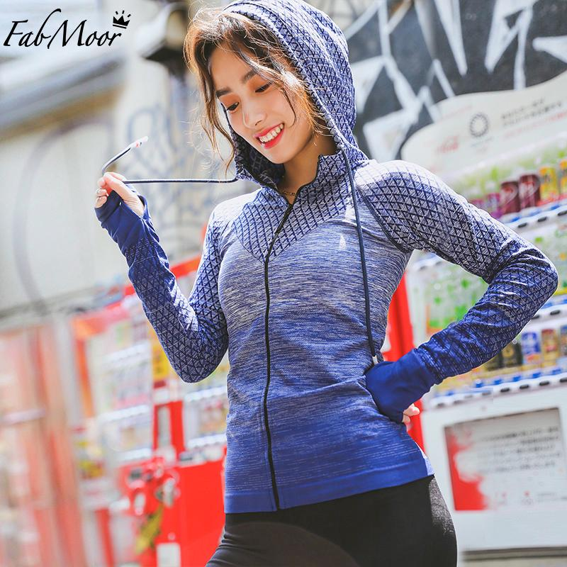 Wholesale Women S Cute Running Sports Jackets Seamless Made Full Zip  Activewear Coat With Thumb Holes Fitted Jacket Workout Hooded Shirt UK 2019  From Comen f66f250ac4