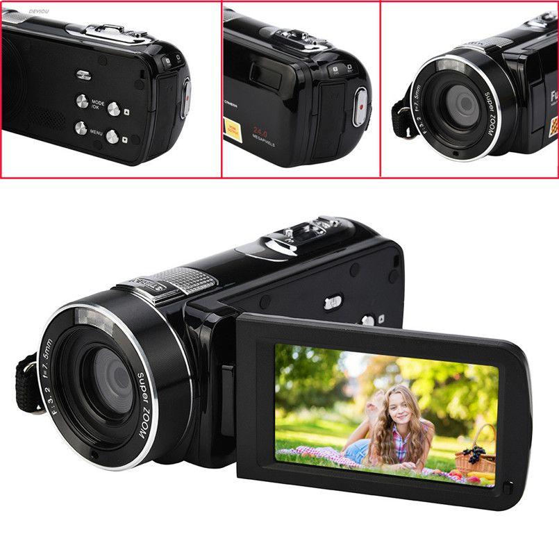 Kızılötesi Gece Görüş Uzaktan Kumanda Handy Kamera HD 1080 P 24MP 18X Dijital Zoom Video Kamera DVwith 3.0