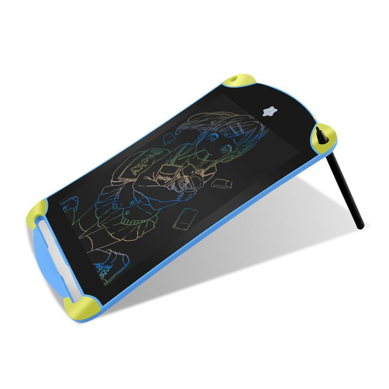 Tableta de escritura LCD de 8,5 pulgadas de dibujos animados Tableta de dibujo digital Tableros de escritura coloridos Escritura portátil Azul Tablero electrónico para niños