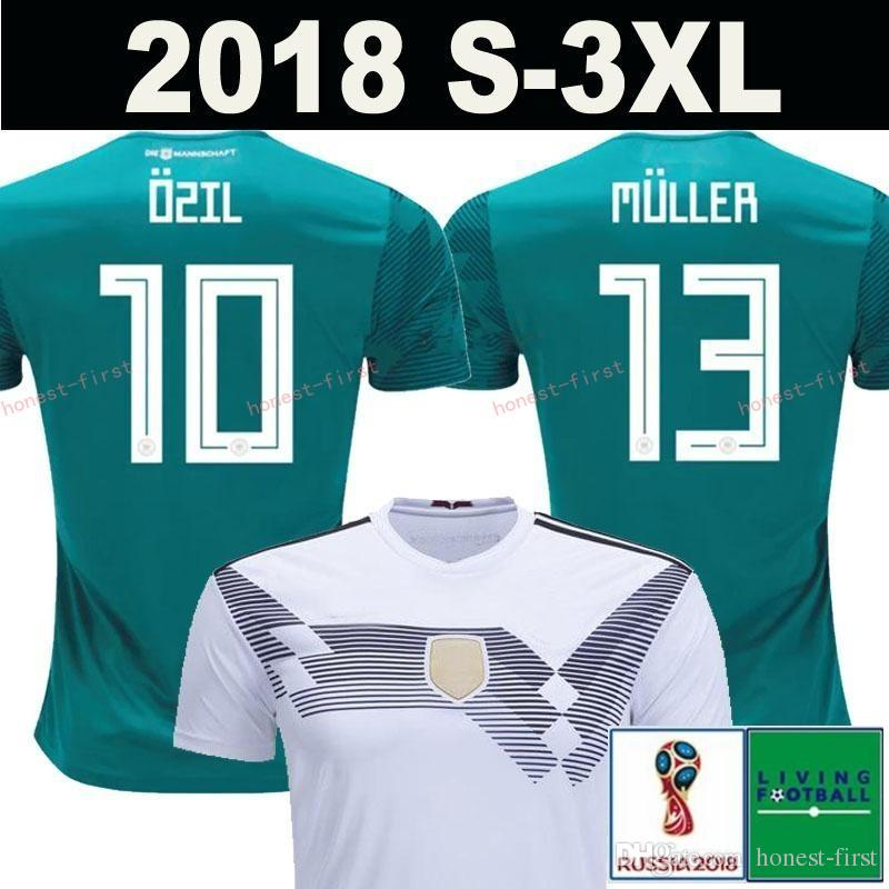 5ed7ad33f5d 2019 2018 MULLER OZIL Germany Soccer Jersey Away Green World Cup DRAXLER  KROOS HUMMELS WERNER SANE KIMMICH Alemania National Team Football Shirts  From ...