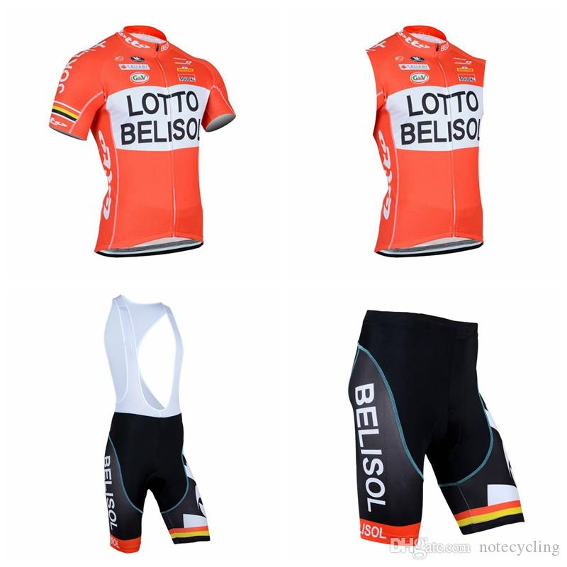 LOTTO Cycling Short Sleeves Jersey Bib Shorts Sleeveless Vest Sets Best  Selling Bike Ropa Ciclismo Wear Resistant 3D Pad Wholesale A41613 Cycling  Kits Bike ... 0302ac9c8