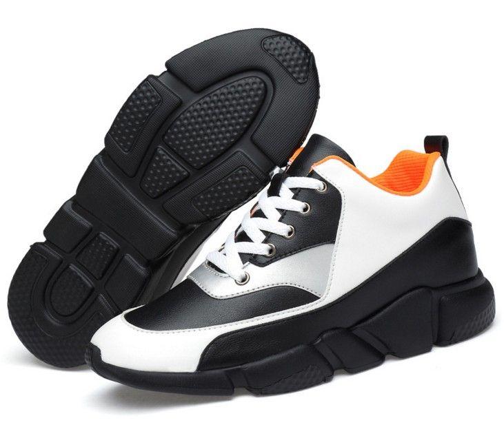 c1cadbbe Compre Hombres De Alta Calidad Zapatos De Ascensor Moda Transpirable Zapatos  Casuales Altura Invisible Aumento De 7 CM Plataforma Tacones Ocultos Zapato  A ...