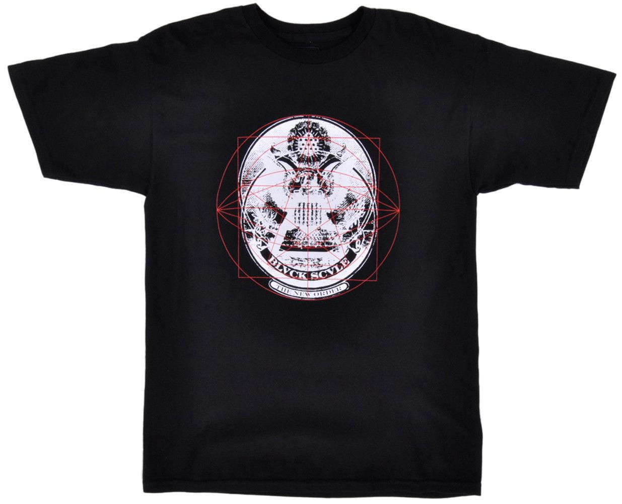 Black Scale New Order T-Shirt BLVCK SCVLE Herren Occult Fashion Top Black