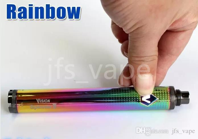 Rainbow Vision II 1650 mah Ego eVod Twist variable Spannung Vape Mod-Batterie für Mini-Protank-Verdampfer-Starter-Kit