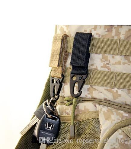 Hombres al aire libre que acampan mosquetón táctico mochila ganchos Olecranon Molle gancho supervivencia engranaje EDC llaveros de nylon militar corchete